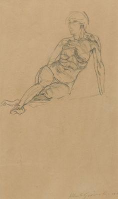 Alberto GiacomettiNu couché1922-23graphite on paper19 7/8 x 13 inches (50.5 x 33 cm)Private Collection