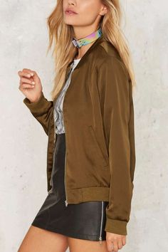 Rex Satin Bomber Jacket - Clothes | Romantic Revolution | Utility Chic | Fall…