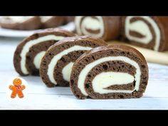Čarovná čokoládová roláda s tvarohovou plnkou: Nerobíte zvlášť cesto a krém, všetko sa pečie na 1 plechu! Yams, Doughnut, Cookies, Recipes, Food, Youtube, Hampers, Bakken, Crack Crackers