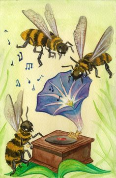 Bee decor and vintage bee hive home decorating. Shop for bee and beehive jewelry, beehive art and home decor and other handmade vintage bee goods for your little hive. I Love Bees, Birds And The Bees, Bee Images, Vintage Bee, Photo D Art, Cute Bee, Bee Art, Joan Mitchell, Bee Happy