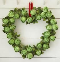 Brussel Sprout Wreath - Heart Shaped