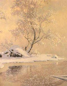 Rimfrost by Gustaf Fjaestad