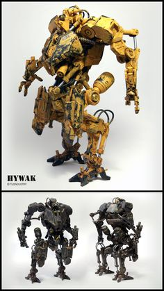 Check out the HYWAK – Advance Hydraulic Walker Mech Model! http://conceptartworld.com/?p=39173 TLE Industry has released the HYWAK a.k.a. Advance Hydraulic Walker Mech. The HYWAK is a 1/6 scaled mech model fully assembled and painted made from 247 individual parts which include real metal nuts and bolts as well as screws, cables...
