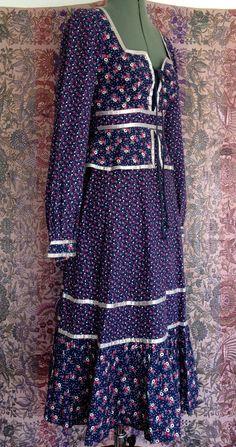 Vintage 1970's Gunne Sax Prairie Dress by OklaVintage on Etsy, $72.00