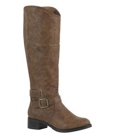 Look at this Tan Jillian Riding Boot on #zulily today!