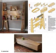I really, really want one of these - a bookcase that converts into a coffin!
