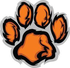 tiger cartoon pics tiger paw cut image vector clip art online rh pinterest com Auburn Tigers Football Logo Tiger Logo Clip Art