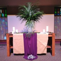 GAUMC Worship Center  Palm Sunday Altar 2014