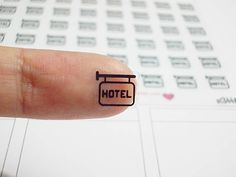CLEAR Hotel Guide Post Planner Stickers, Billboard, Erin Condren Planner Stickers, Happy Planner Stickers, Clear Planner Stickers (st344#) by CENTERPATCH on Etsy
