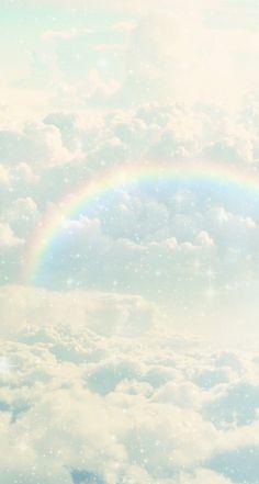 Rainbow line deco iphone wallpaper