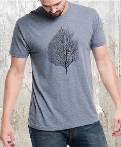 Men's Tri-Blend Graphic Tee - Leaf & Tree - Screen Print T Shirt Forest Shirt Men's/Unisex T Shirt Designs, Baby Daddy, T Shirt Painting, Tee Shirt Homme, Shirt Men, Quality T Shirts, Casual T Shirts, Couture, Printed Shirts