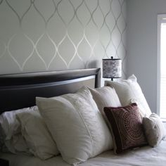 Contact paper accent wall, works great on windows for privacy too! :)