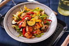 Vega zöldséges-tofus saláta