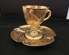 Moser Pedestal Cup and Saucer at Beyond Expression Tea Cup Set, Tea Cup Saucer, Teapots And Cups, Teacups, Chocolate Cafe, Cuppa Tea, Tea Service, Teller, Vintage Tea
