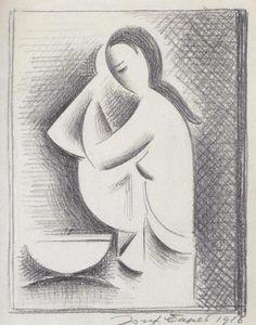 Toaleta (1916) Joseph, Cubist, Painter, Abstract Artwork, Art, Humanoid Sketch