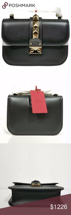 Valentino Glam Lock Leather Crossbody Bag Valentino Glam Lock Leather Crossbody Bag Material : Leather Colour : Black MADE IN ITALY. Width 8 in, Height 5 in, Depth 2 in. Valentino Bags Crossbody Bags