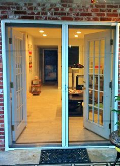 Odl Retractable Screen Door our door canvas for this installation was a 6 panel wood door. we