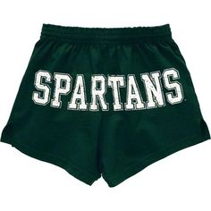 Michigan State Spartans Women's Dark Green Authentic Soffe Shorts $17