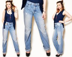 distressed jeans outfit spring casual