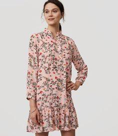 Image of Petite Gardenia Flounce Dress
