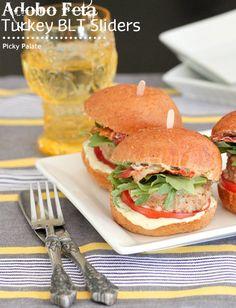 Adobo Feta Turkey BLT Sliders (use g free buns)