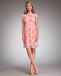 Nanette Lepore Pep Rally Lace Dress
