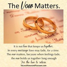 Wifey Wednesday: What the Vow Means