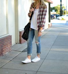 J.Crew shirt, C&C tee, Joe's Jeans, Converse sneakers, Paul & Joe Sister bag