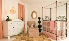 Project Nursery - Parisian Crib in Gold from Bratt Decor. There's something about a canopy crib that screams royal. Canopy Over Bed, Canopy Bedroom, Diy Canopy, Fabric Canopy, Canopy Tent, Truck Canopy, Kids Bedroom, Backyard Canopy, Finals