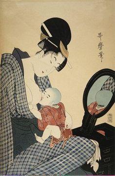 Madre e hijo Autor: Kitagawa Utamaro (1753-1806) Ubicación: Museo del Hermitage, San Petersburgo, Rusia