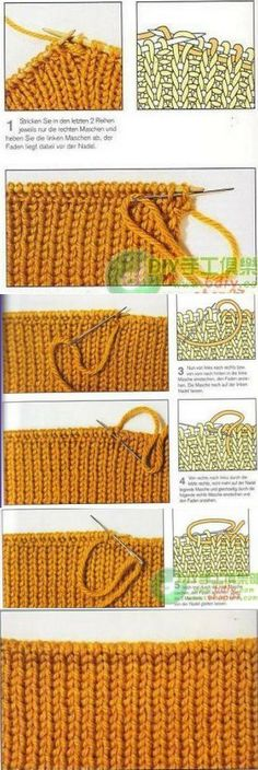 38 Ideas Knitting Loom Tutorial For 2019 Knitting Basics, Knitting Help, Knitting Stiches, Loom Knitting, Knitting Projects, Crochet Stitches, Hand Knitting, Knit Crochet, Stitch Patterns