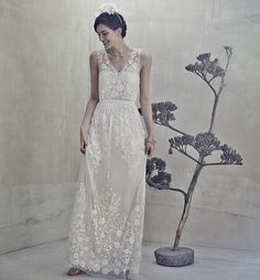 Off-the-rack white lace dresses that could work for your wedding or rehearsal dinner