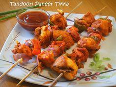 Tasty Appetite: How to make Paneer Tikka at home ? / Tandoori Paneer Tikka / Step by Step :