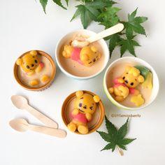 Winnie the Pooh deco shiratama pudding; recipe + tutorial