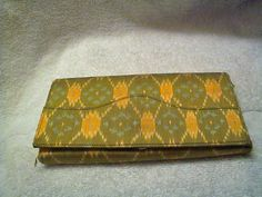 Vintage Green Patterned Wallet by Jacque0 on Etsy, $20.00