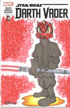Star Wars #1 (Blank Variant Sketch Cover) Donald Maul Art by Rodney Fyke