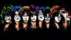 This is one of my favorites. Everyone who has ever been in Kiss and worn the makeup. From left to right: Eric Singer, Tommy Thayer, Vinnie Vincent, Paul Stanley, Ace Frehley, Peter Criss, Eric Carr, and Gene Simmons