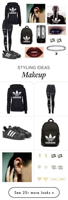 """""""Untitled #260"""" by ignoredpest on Polyvore featuring 2LUV, adidas Originals, adidas, Charlotte Russe, Smashbox, Samsung and Mike Saatji"""