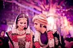Wedding Picture of Big Bang Theory's Kunal Nayyar and wife, former Miss India, Neha Kapur. Their wedding took place in India over several days.