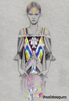 Cedric Rivrain - модный иллюстратор / работы фешен иллюстраторов