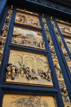 Lorenzo Ghiberti - - the east doors of Baptistery - Florence, Italy Lorenzo Ghiberti, Voyage Florence, Rome Florence, Siena, Italy Holidays, Belle Villa, Italian Art, Adventure Is Out There, Art And Architecture