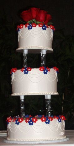 RED, WHITE, & BLUE WEDDINGS (Cakes, Flowers, Misc.) on Pinterest | Red ...