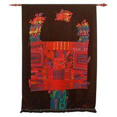 Stig Lindberg psychedelic tapestry