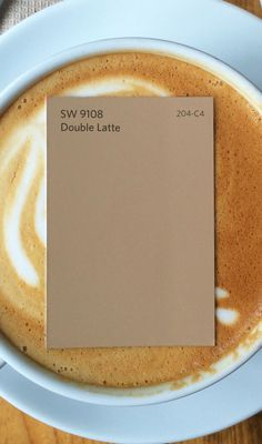 Looking for the perfect color to perk up tired walls? Espresso yourself with Double Latte SW Kitchen Color Palettes, Paint Color Palettes, Paint Color Schemes, Kitchen Paint Colors, Interior Paint Colors, Paint Colors For Home, Orange Paint Colors, Hallway Wall Colors