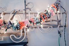 colorful pom garland
