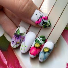 Nail Stencils, Butterfly Nail, Almond Nails, Flower Decorations, Nail Art Designs, Manicure, Nail Polish, Shapes, How To Make