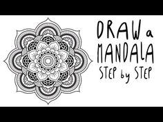How to draw a MANDALA step by step for BEGINNERS (EASY) - YouTube