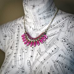 @BlackCoral4you Like Colorful Statement Necklace Multi Chain Upcycled by @BluKatDesign