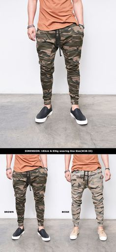 Mens Camouflage Baggy Jersey Jogger-Sweatpants 276 by Guylook.com