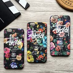 Stussy Flowers Case - - Perfect Fits For iPhone Plus - The Stussy Flowers Case is High Quality Guarantee - Please select model and color - Model:iPhone 6 Plus,iPhone 7 Plus,iPhone Iphone 7 Plus Cases, Iphone 5s, London, Design Inspiration, Chanel, Flowers, Royal Icing Flowers, Flower, London England